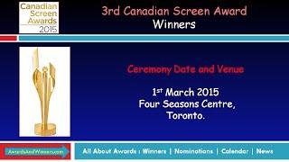 2015 Canadian Screen Award Winners