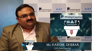 Mr. Hardik Dhebar, CFO, Delta Corp Ltd || H-A-T Conference 2017