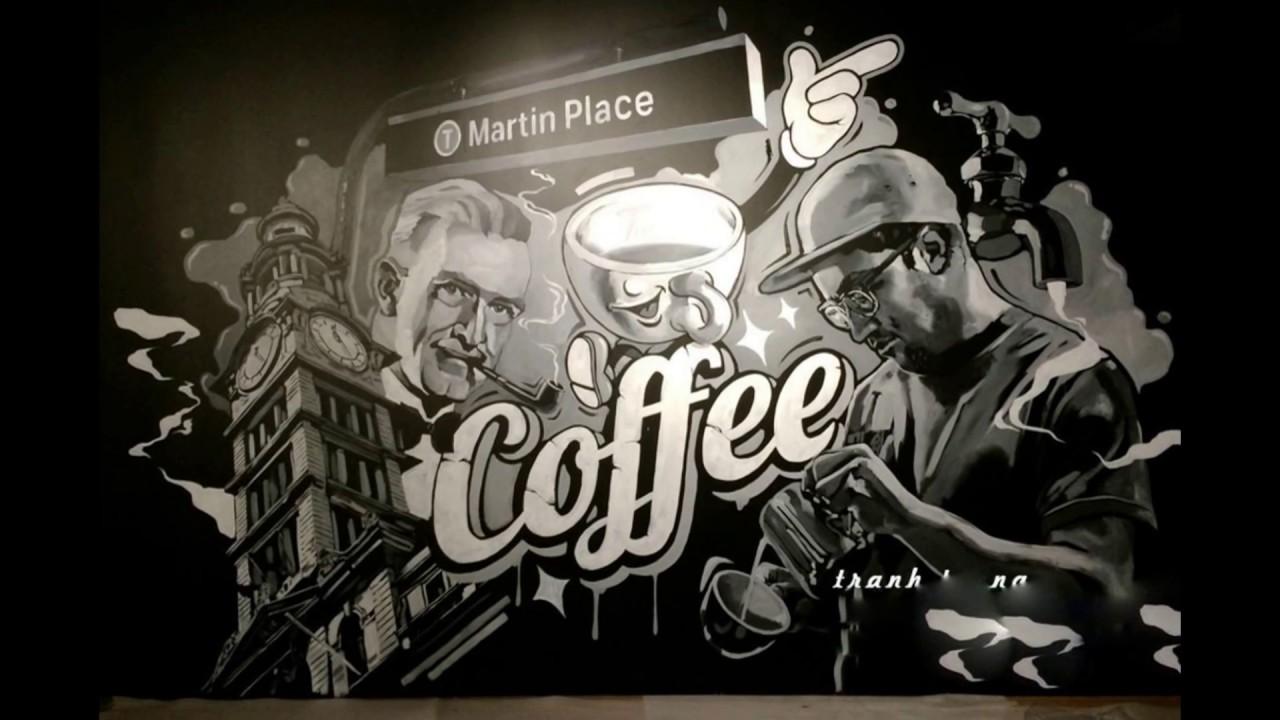 hình mẫu tranh tường tuyệt đẹp vẽ trang tri quán coffee, trà sữa , kem … 0976.476,894