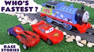 disney cars toys who s fastest spiderman avengers thomas and friends play doh micro drifters