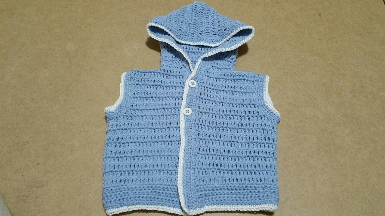 Smanicato Neonato Uncinettogilet Baby Crochet Youtube