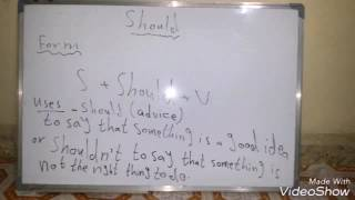 Gambar cover English lesson the use of should