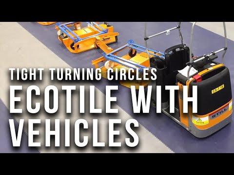 How Does Ecotile Flooring React To Heavy Vehicles & Tight Turning Circles?
