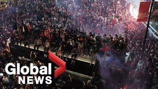 NBA Finals: Drone footage shows just how big Toronto's post-game celebration was