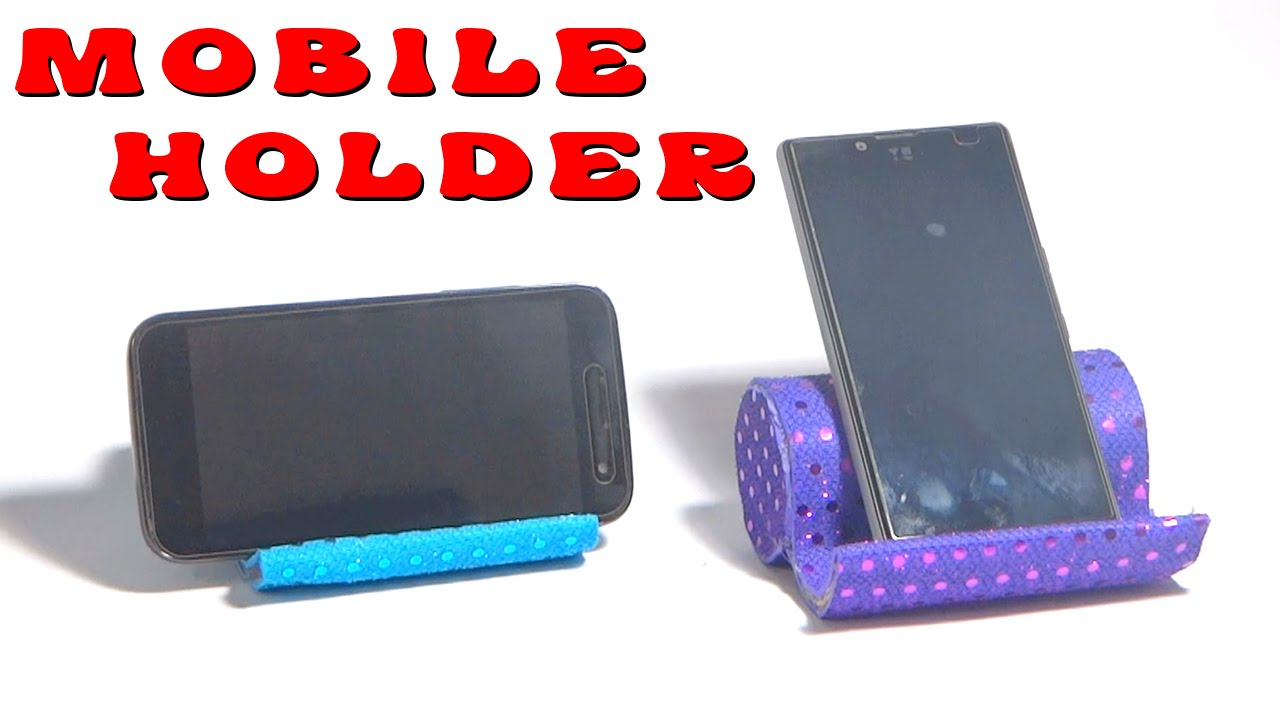 Diy Crafts How To Make Mobile Holder Youtube