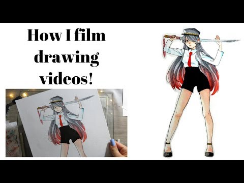 Behind The Scenes: How I film drawing Videos!
