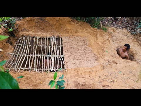 Primitive Survival Skills: Build Underground House