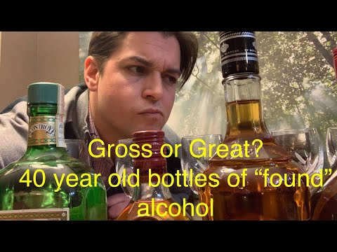 Gross or Great?! taste testing old  found  bottles of alcohol