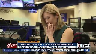 Touching your face and coronavirus