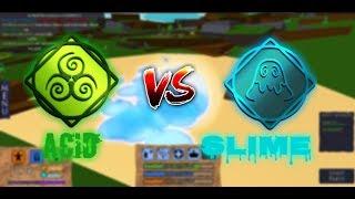Slime vs Acid!! | Roblox Elemental Battlegrounds