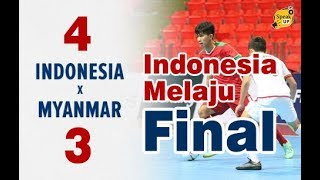 TEGANG!!! INDONESIA 4-3 MYANMAR | ALL GOALS & HIGHLIGHT FUTSAL AFF 2019 #INDONESIAVSMYANMAR
