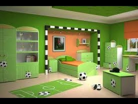 Decoracion de cuartos de futbol de ni os 6 youtube for Decoracion de dormitorios para ninos