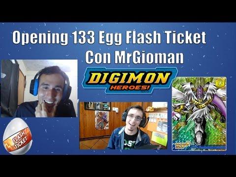 Digimon Heroes! - Opening 133 Egg Flash Ticket Con MrGioman