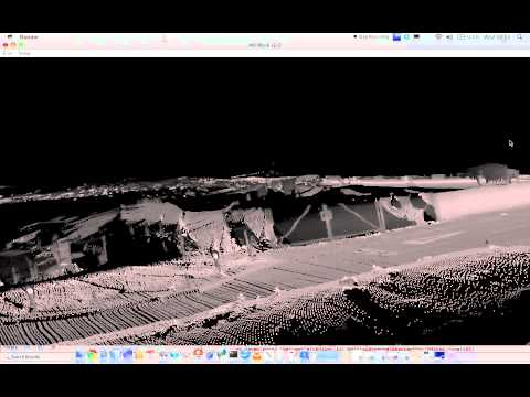 3D Point Cloud from 2D Sick 8 degrees down - Begbroke Site