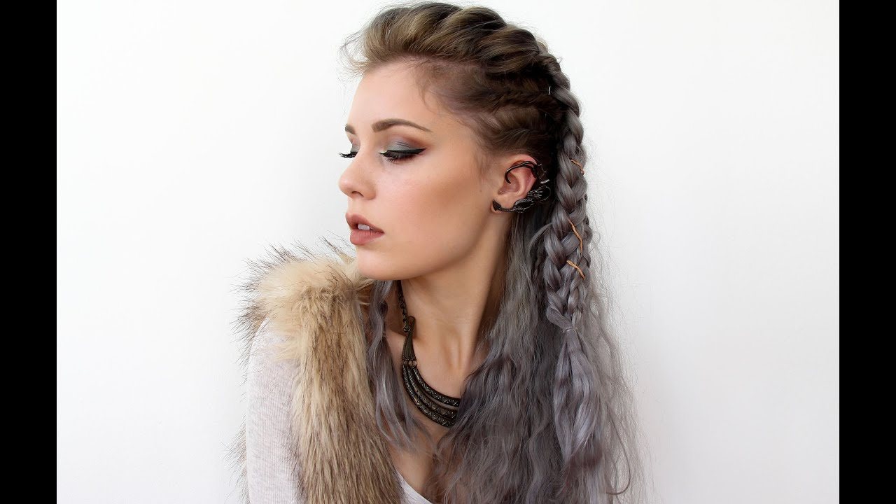 vikings lagertha inspired hair tutorial