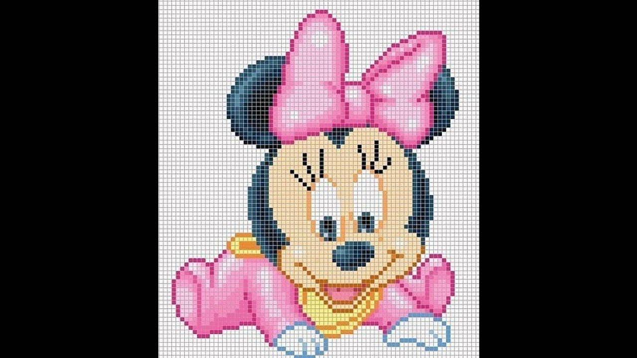Proceso para hacer minnie beb en punto de cruz youtube - Dibujos para hacer punto de cruz ...