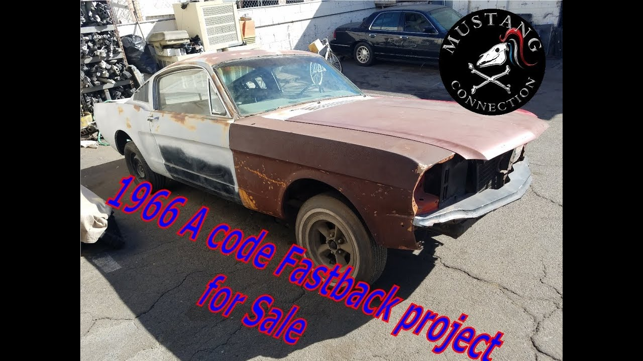 The owner states that this is a genuine gt, and is not a clone. Project 1966 Mustang Fastback A Code For Sale In Los Angeles Mustang Connection Youtube