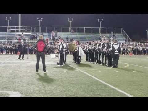 Dover High School vs Sussex Tech Drumline Battle 2018 (watch till the end)