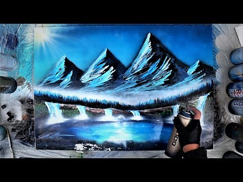 How to make MOUNTAINS - Spray paint art tutorial by Skech