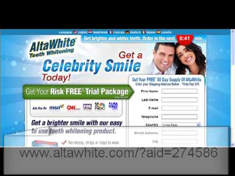 Teeth Whitening At Home With Alta White Free Trial Offer Youtube
