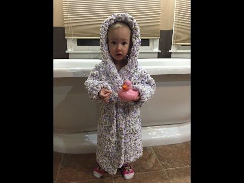 Toddler Bathrobe Size 2T/3T- Section 1: The Bottom (Free Crochet Pattern)