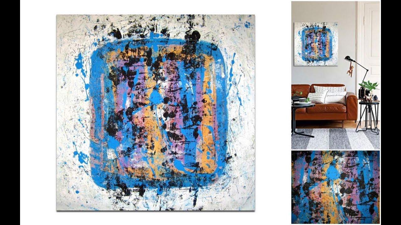 Apartmani Uređenje Slikama Iz Ponude Galerije Mag Blu Box Apstraktna Slika Na Platnu 80x80 Cm