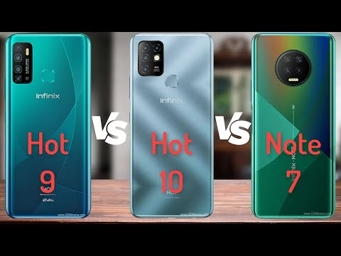 Infinix Hot 9 vs Infinix Hot 10 vs Infinix Note 7