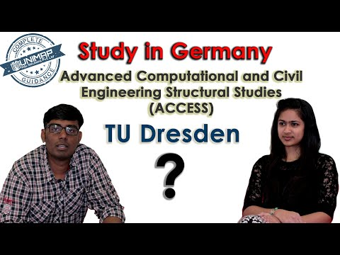 Master's   ACCESS   TU Dresden   Germany   Study In Germany
