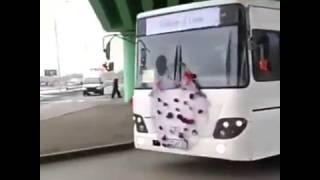 Свадебный кортеж из автобусов в Атырау 12 января 2017 г