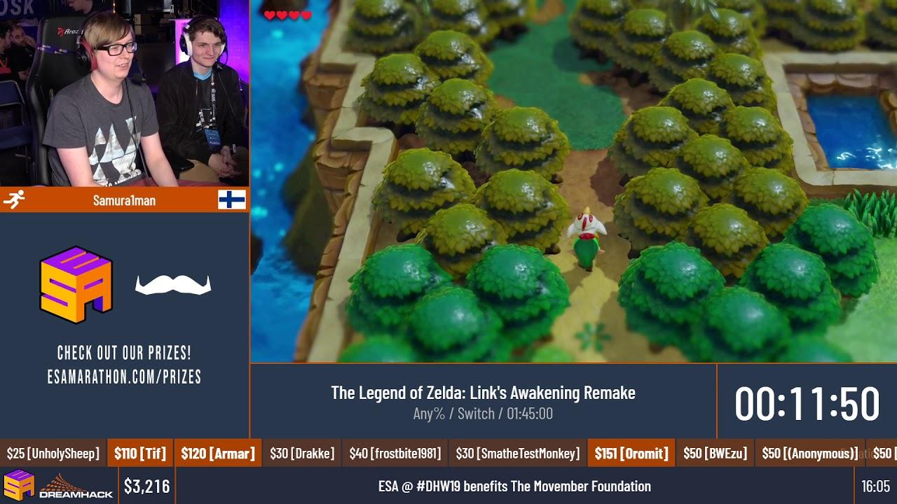 The Legend of Zelda: Link's Awakening Remake [Any%] by Samura1man - #DHW19 thumbnail