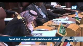 وزير الثقافة والإعلام: قطر سعت لشق الصف العربي عبر قناة الجزيرة