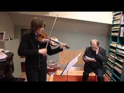 2008 Willem Breuker rehearses Zaagzusje Sonatine with Gerard Bouwhuis en Heleen Hulst