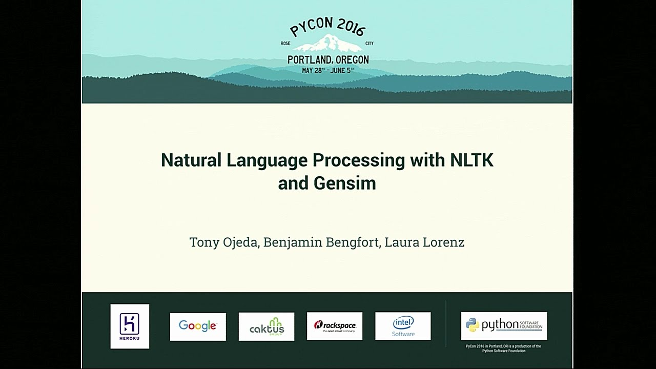 Image from Natural Language Processing with NLTK and Gensim