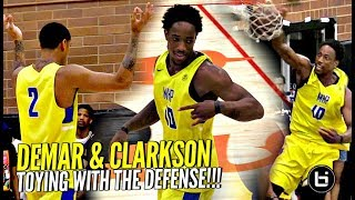 DeMar DeRozan & Jordan Clarkson TOYING w/ Defenders at Drew League!! CRAZY Eastbay to End Game!!