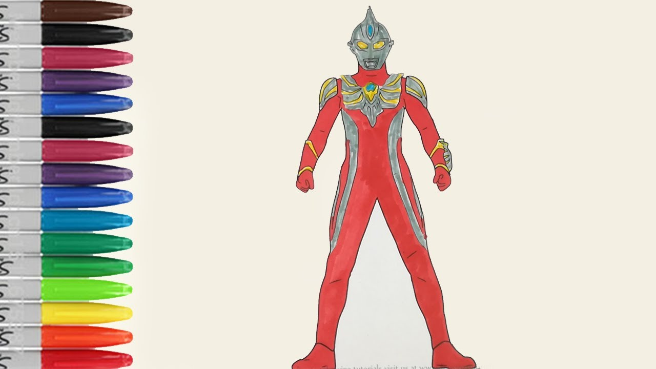 Ultraman MAX Beautiful Standing Coloring Pages SAILANY Kids