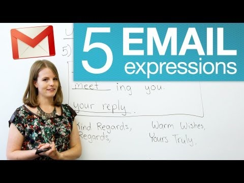 5 useful email expressions