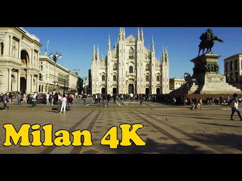 Walk Around Milan Italy 4K.