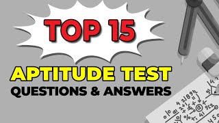 Top 15 Aptitude Test Questions and Answers screenshot 5