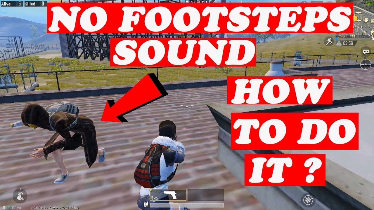 HOW TO WALK/RUN WITHOUT FOOTSTEPS NOISE ! PUBG MOBILE