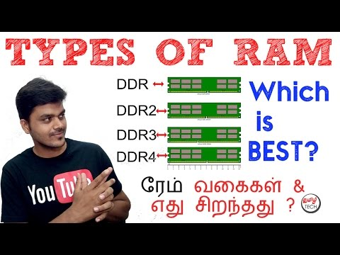 Types of RAM : DDR , DDR2 , DDR3 , DDR4 - Which is BEST ? | TAMIL TECH