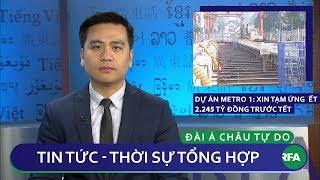 Tin nóng 24h 18/01/2019   Dự án Metro số 1: Xin tạm ứng 2.245 tỷ đồng trước Tết
