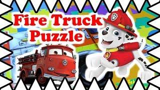 Пожежний Іграшка Вантажівка Огляд! Пожежна Машина Відкриваємо Іграшка-Головоломка! Пожежна машина іграшка вантажівка для дітей!