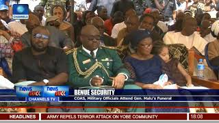 COAS, Military Officials Attend Gen. Malu's Funeral
