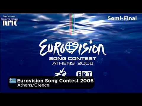 Eurovision Song Contest 2006 - Semi-Final (NRK Commentary/Norsk Kommentar) (Geoblocked)