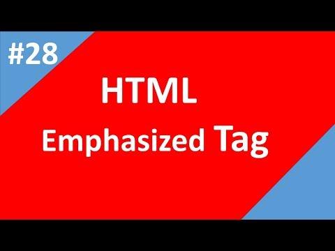 Emphasized Text In Html | Part - 28 |  Html Tutorial | Tech Talk Tricks