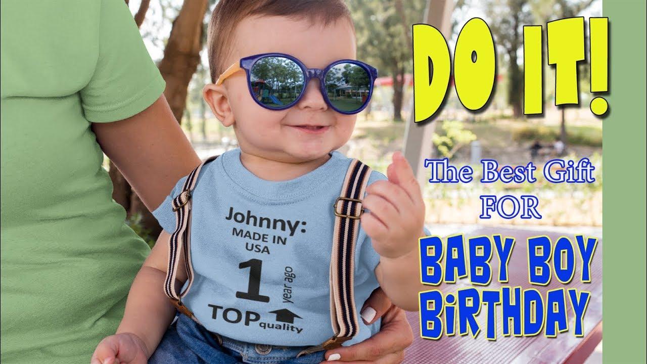 Diy Personalized Fun First Birthday Shirt For Baby Boy Youtube