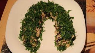 Рецепт- Салат курица с черносливом от videokulinaria.ru