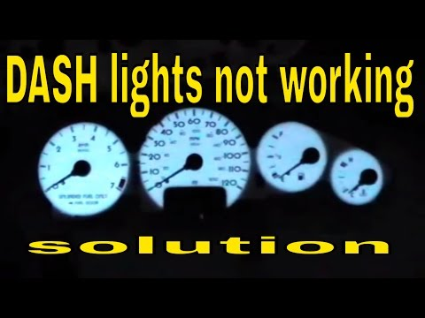 Chrysler Sebring Instrument Cluster Lighting Not Working Part 1