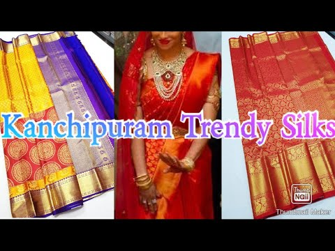 #91 Kanchipuram Pure Soft Fancy Party Wear Silk Sarees || Latest Kanchi Silk Sarees || from YouTube · Duration:  3 minutes