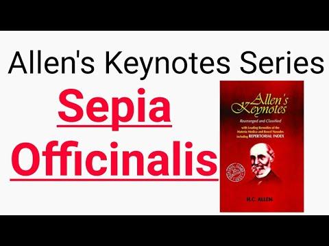 #Allenskeynoteseries ~ Sepia Officinalis | Allen's Keynotes | Materia Medica